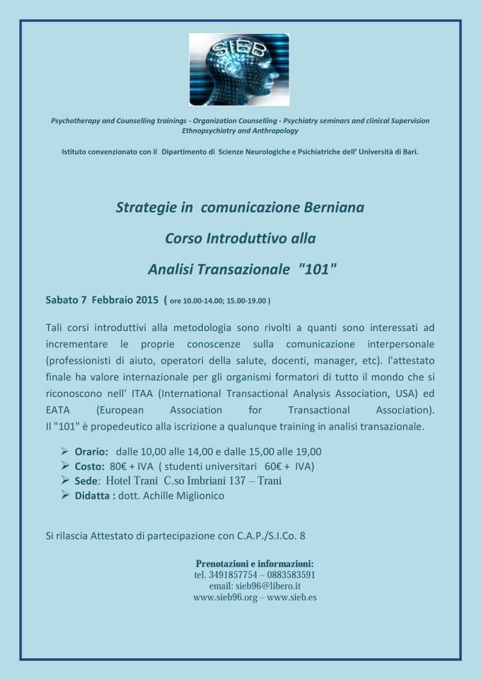 15.02.07 - strategie in comunicazione Berniana