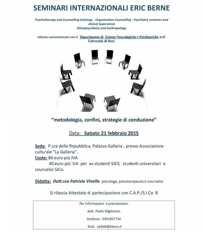 15.02.21 - Counseling Analitico Transazionale di gruppo