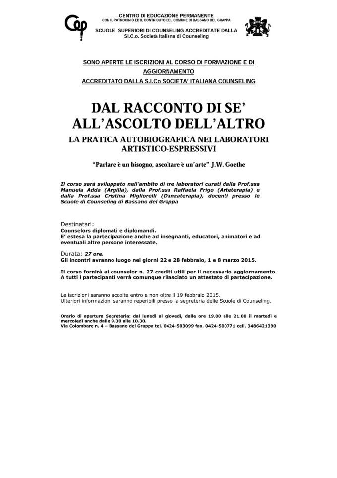DAL RACCONTO DI SE' ALL ASCOLTO DELL ALTRO - versione  1