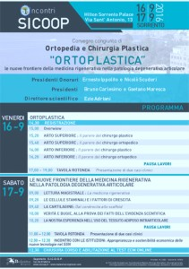 """Incontri SICOOP - """"Ortoplastica"""" Le nuove frontiere della medicina rigenerativa nella patologia degenerativa articolare"""