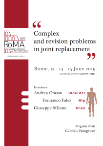 13 - 14 GIU | Rome Meeting on Arthroplasty Complex and revision problems in joint replacement