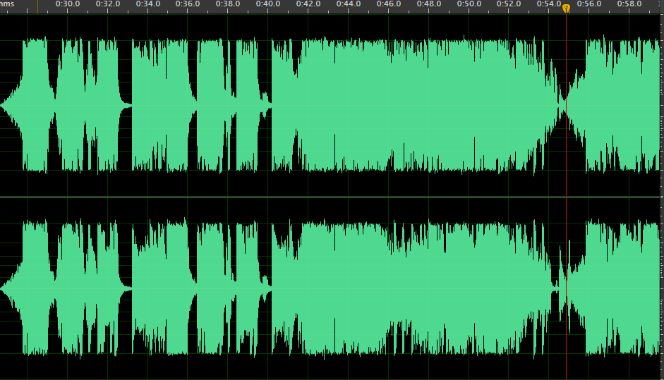 Spectrum image of audio from 00:26 to 00:28 Seconds