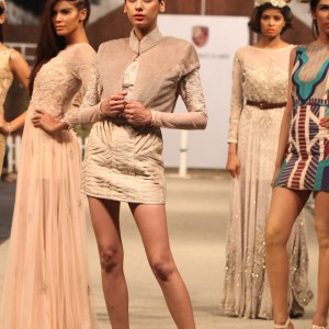 Fahad Hussayn at Porsche Polo Diaries Fashion Show. A multi-designer collection paying tribute to the historical game of Polo.