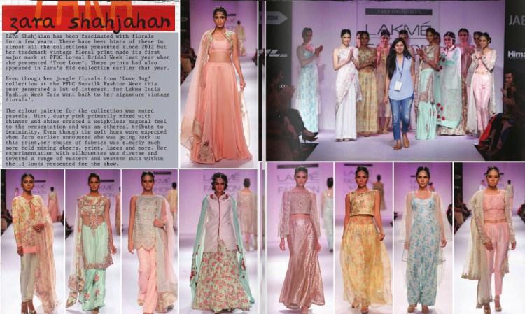 Zara Shahjahan at Lakme India Fashion Week