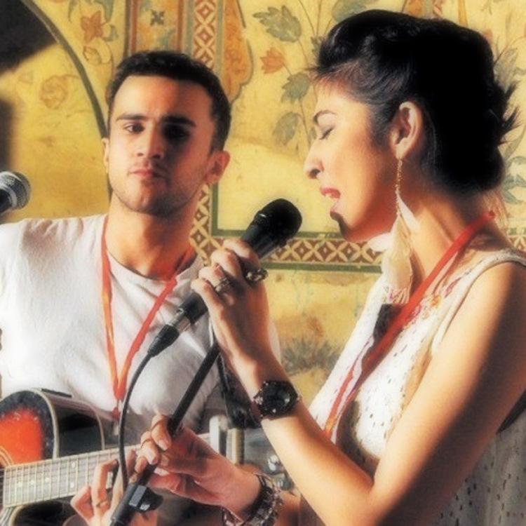 Meesha performs with Husband Mehmood