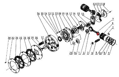 CJ750 ::: Crankshaft link rod COPPER INSERTS suit OHV