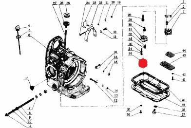 M72 CJ750 oil pump filter screen