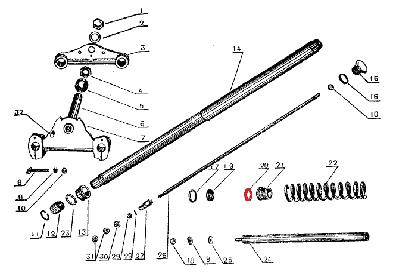 CJ750 parts ::: Front fork felt oil sealing ring