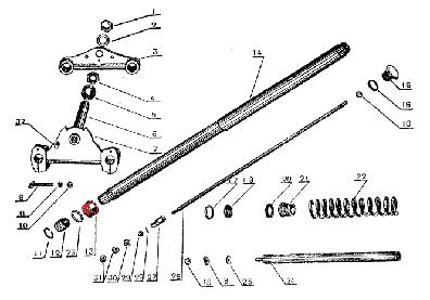 CJ750 parts ::: Front fork upper pipe