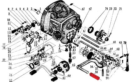 CJ750 parts ::: Kick start pedal rubber sleeve