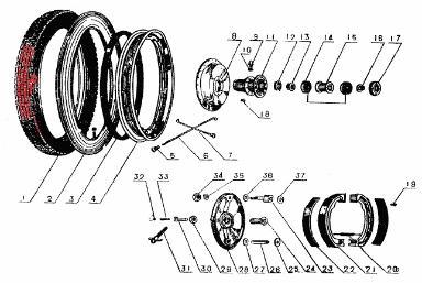 CJ750 parts ::: Cheng Shin flat profile tires tyres 3.75*19
