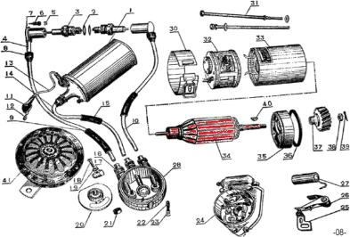 CJ750 M72 6V NOS generator rotors