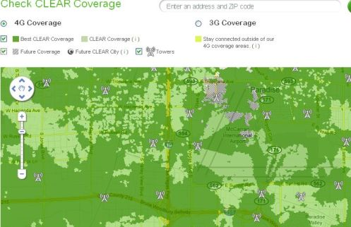 Clearwire Adds Tower Locations to Coverage Maps on