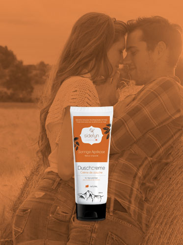 Duschcreme 30 g Sonnige Aprikose Sidefyn Cosmetics Naturkosmetik mit Molke