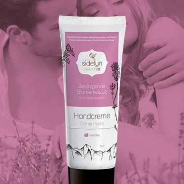 Crème mains Prairie fleurie apaisante Sidefyn Cosmetics avec du petit-lait