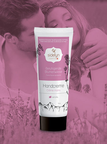 Molke-Handcreme Beruhigende Blumenwiese von Sidefyn Cosmetics