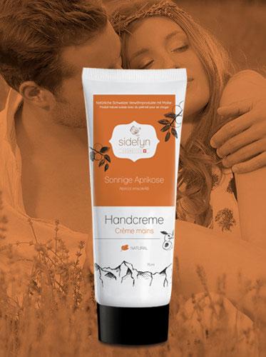 Handcreme Sonnige Aprikose Sidefyn Cosmetics Naturkosmetik mit Molke