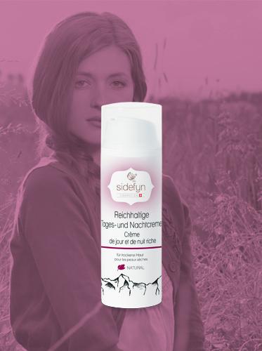 Reichhaltige Tages- und Nachtcreme Sidefyn Cosmetics für trockene Haut