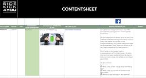 voorbeeld contentsheet postplanner