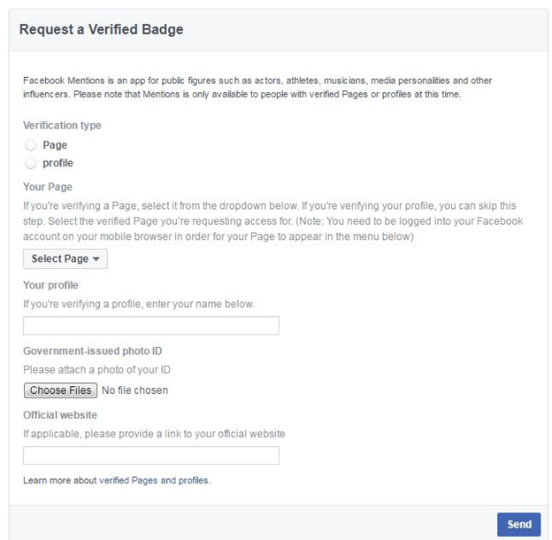 facebook verification