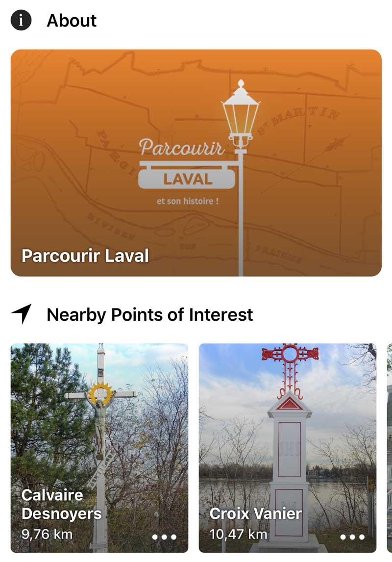 Parcourir Laval - Interactive travel guide app | Sidekick