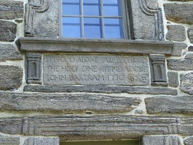 Bartram House Inscription
