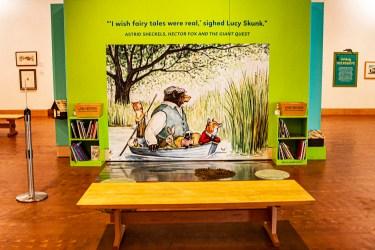 A children's reading area