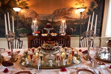 The dining room at the duPont family home