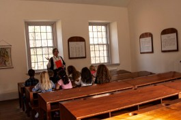 A schoolroom demonstration for children at the Sunday School Building