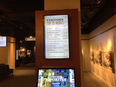 Visitors can vote for their favorite books during a museum visit.