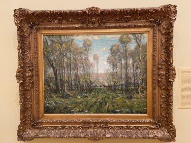 The Forest Road, Early Spring (1911) is by Henry Ward Ranger, the artist who visited Miss Florence's boardinghouse and started what became the Old Lyme Art Colony.
