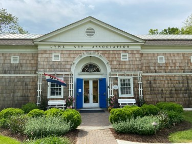 Museum visitors can walk a short trail to visit the Lyme Art Association, founded 100 years ago and still hosting shows by its member artists.