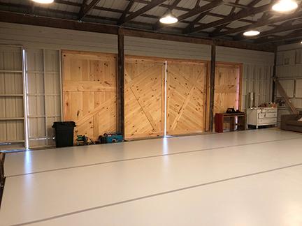 Arts on Site Studio Doors. Photo by Kyle Netzeband