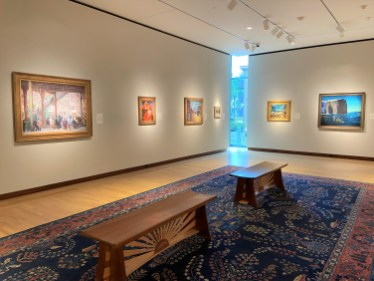 Individually designed benches add both comfort and quirky charm to the NBMAA's galleries.
