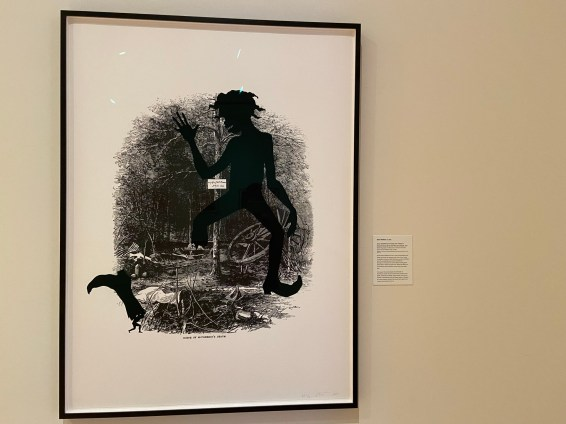 The NBMAA recently acquired Kara Walker's 15-print series Harper's Pictorial History of the Civil War (Annotated), including Scene of McPherson's Death. The print captures the war's brutality.