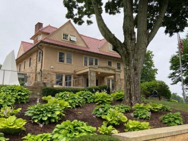 Now connected to the main gallery, the Landers House became the home of the museum in 1937