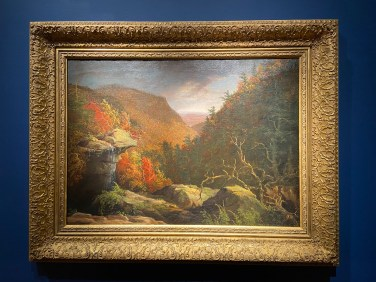 The NBMAA has an excellent collection of works by Hudson River School painters, including Thomas Cole, the movement's founder. This is The Clove, Catskills, from 1827.