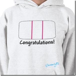 positive pregnancy shirt