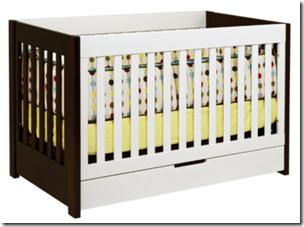 babyletto mercer crib two tone