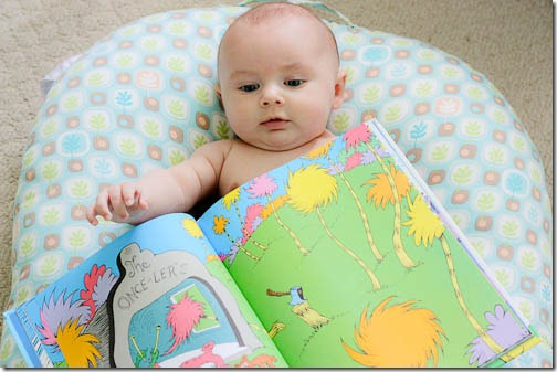baby reading the lorax