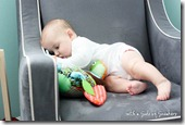 6 month old in chair