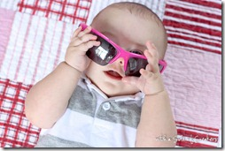 sunglasses wearing baby