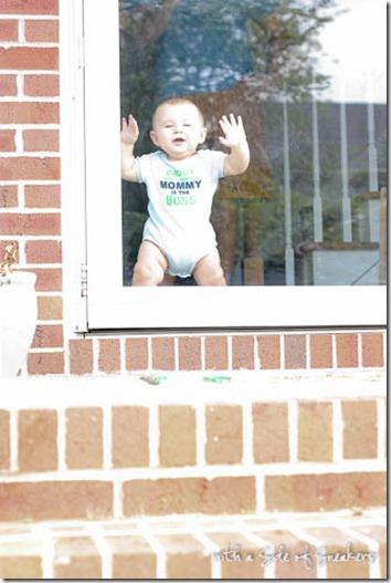 baby at door