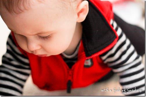 crawling infant