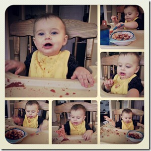 baby spaghetti night