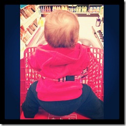 target with baby