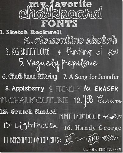 Chalkboard fonts