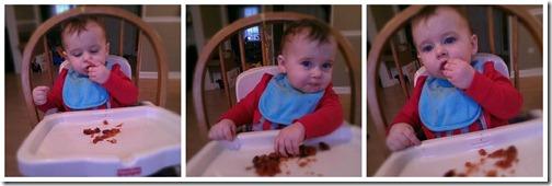 baby eating chili
