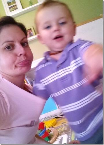 toddler hand in shirt