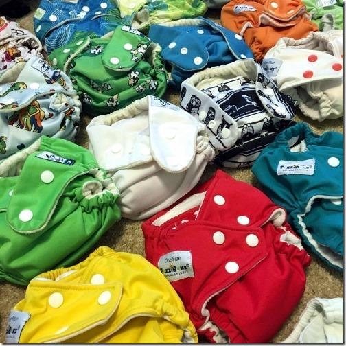 cloth diaper prep